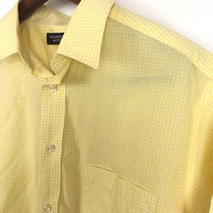 Roundtree & Yorke Mens Button Down Shirt Sz Large
